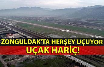 Zonguldak'ta herşey uçuyor uçak hariç!