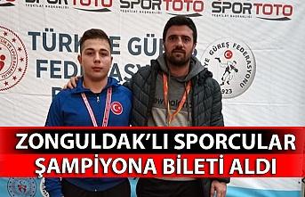 Zonguldak'lı sporcular şampiyona bileti aldı