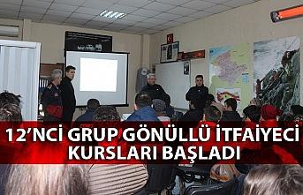 12'nci Grup Gönüllü İtfaiyeci Kursları Başladı