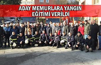 Aday memurlara yangın eğitimi verildi