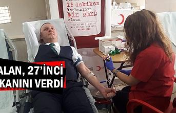 Alan, 27'inci kanını verdi