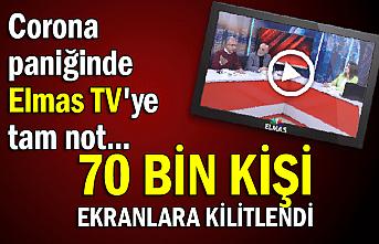 Corona paniğinde Elmas TV'ye tam not... 70 bin kişi ekranlara kilitlendi