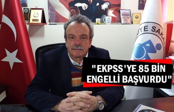 """EKPSS'ye 85 bin engelli başvurdu"""