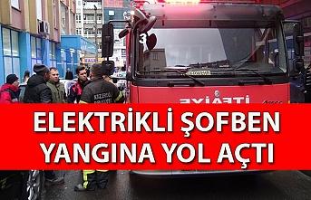 Elektrikli şofben yangına yol açtı