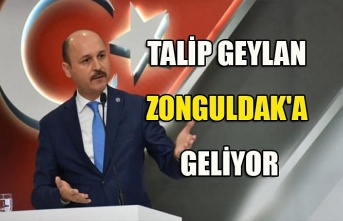Talip Geylan Zonguldak'a geliyor