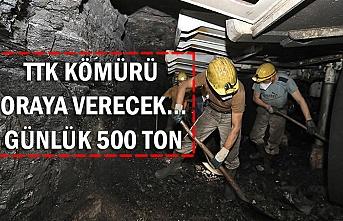 TTK kömürü oraya verecek... Günlük 500 ton