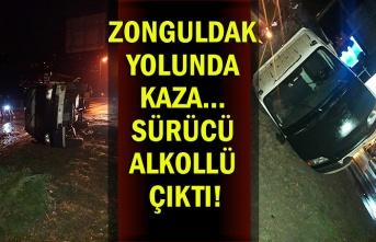 Zonguldak yolunda kaza… Sürücü alkollü çıktı!