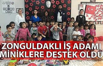 Zonguldaklı iş adamı miniklere destek oldu