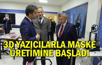 3D YAZICILARLA MASKE ÜRETİMİNE BAŞLADI