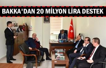 BAKKA'dan 20 milyon lira destek