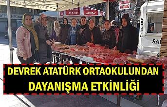 Devrek Atatürk Ortaokulundan dayanışma etkinliği