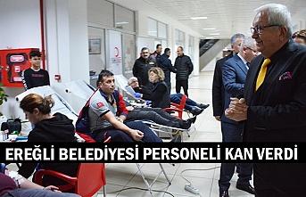 Ereğli Belediyesi personeli kan verdi