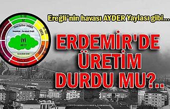 Ereğli'nin havası Ayder Yaylası gibi...  Erdemir'de  üretim durdu mu?..