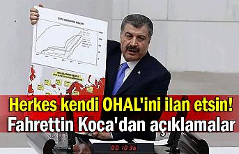 Herkes kendi OHAL'ini ilan etsin! Fahrettin Koca'dan açıklamalar