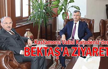 Kastamonu Valisi Karadeniz'den Bektaş'a ziyaret