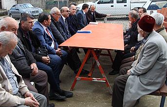 Kaymakam Vekili Altay köylü vatandaşlarla bir araya geldi