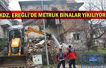 Kdz. Ereğli'de Metruk Binalar Yıkılıyor