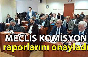Meclis komisyon raporlarını onayladı