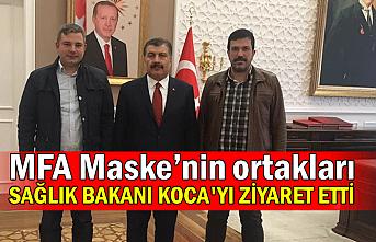 MFA Maske'nin ortakları Sağlık Bakanı Koca'yı ziyaret etti