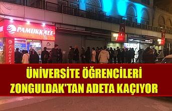Üniversite öğrencileri Zonguldak'tan adeta kaçıyor
