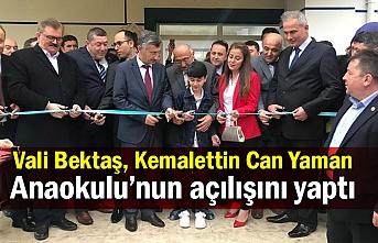 Vali Bektaş, Kemalettin Can Yaman Anaokulu'nun açılışını yaptı