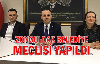 Zonguldak Belediye Meclisi yapıldı