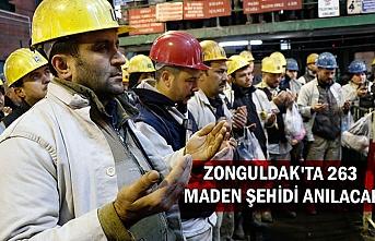Zonguldak'ta 263 maden şehidi anılacak