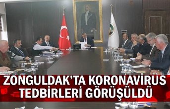 Zonguldak'ta koronavirüs tedbirleri görüşüldü
