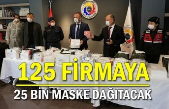 125 firmaya 25 bin maske dağıtacak