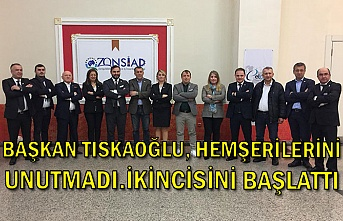 Başkan Tıskaoğlu, hemşerilerini unutmadı.İkincisini başlattı