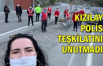 Kızılay polis teşkilatını unutmadı