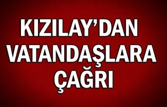Kızılay'dan vatandaşlara çağrı