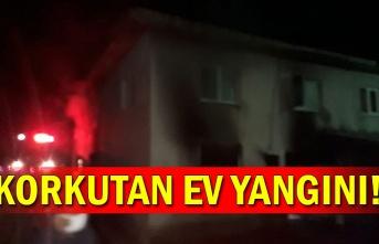 Korkutan ev yangını!