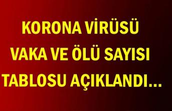 Korona virüsü vaka ve ölü sayısı tablosu açıklandı…