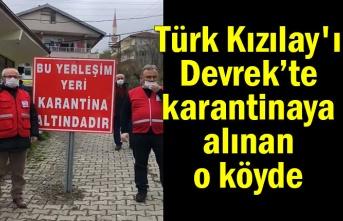 Türk Kızılay'ı Devrek'te karantinaya alınan o köyde