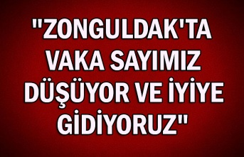 """""""Zonguldak'ta vaka sayımız düşüyor ve iyiye gidiyoruz"""""""