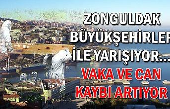 Zonguldak büyükşehirler ile yarışıyor... Vaka ve can kaybı artıyor