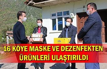 16 köye maske ve dezenfekten ürünleri ulaştırıldı