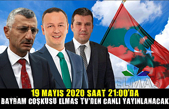 19 Mayıs 2020 saat 21:00'da Bayram Coşkusu Elmas TV'den canlı yayınlanacak