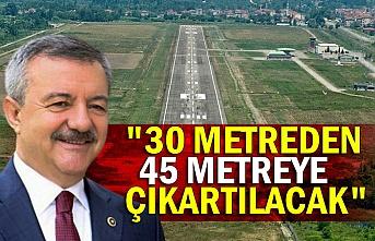 """Türkmen'den Havaalanı değerlendirmesi """" 30 metreden 45 metreye çıkartılacak...."""""""