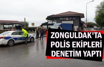 Zonguldak'ta polis ekipleri denetim yaptı