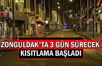 Zonguldak'da 3 gün sürecek kısıtlama başladı