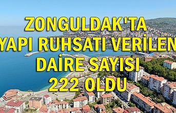 Zonguldak'ta yapı ruhsatı verilen daire sayısı 222 oldu
