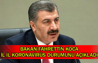 Bakan Fahrettin Koca il il Koronavirüs durumunu açıkladı