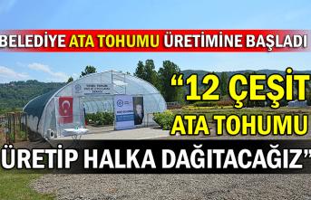 Belediye Ata Tohumu Üretimine Başladı