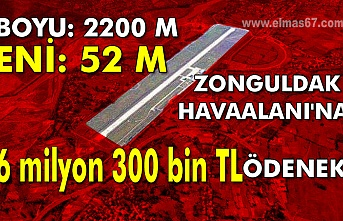 Boyu: 2200 m, Eni: 52 metre olacak Zonguldak Havaalanı'na 6 milyon 300 bin TL ödenek