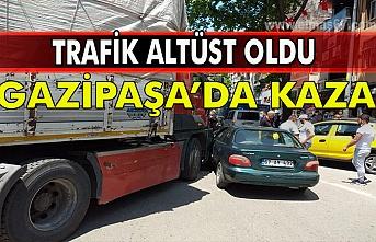 Gazipaşa'da kaza. Trafik altüst oldu