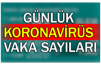 Günlük koronavirüs vaka sayıları