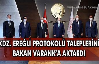 Kdz.Ereğli protokolü taleplerini Bakan Varank'a aktardı