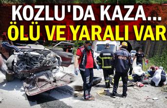 Kozlu'da kaza... Ölü ve yaralı var